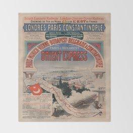 Vintage poster - Orient Express Throw Blanket