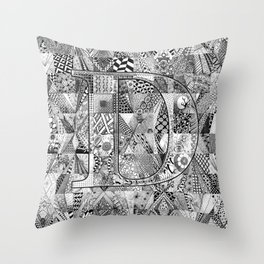 The Letter D Throw Pillow