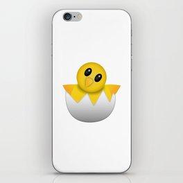 Hatching baby chick Emoji iPhone Skin