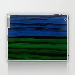 Emerald Green, Slate Blue, and Black Onyx Spilt Laptop & iPad Skin