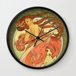 Alphonse Mucha - Dance Wall Clock