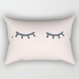Bashful Lashful Rectangular Pillow