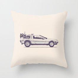 Famous Car #2 - Delorean Throw Pillow