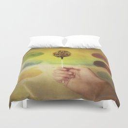 Once Upon a Time a Colorful Candy Duvet Cover