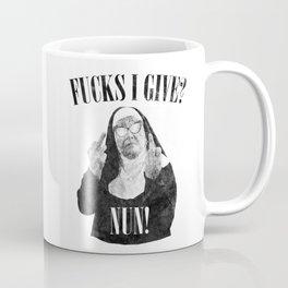 Fucks I Give, Nun, Funny, Quote Coffee Mug