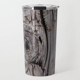 Wood Knot Wood Texture Travel Mug