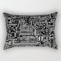 Circuit Board on Black by thinlinetextiles