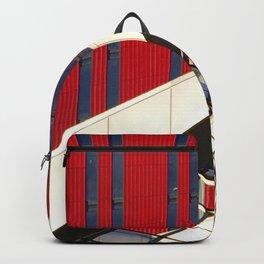 Linee che s'intrecciano su rosso vivo Backpack