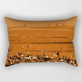 Crowded Summer beach Rectangular Pillow