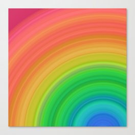 Bright Rainbow | Abstract gradient pattern Canvas Print