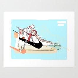 Off-White Blazer Art Print