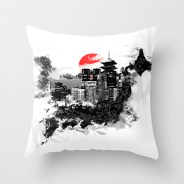 Abstract Tokyo-Shinjuku/Kyoto - Japan Throw Pillow