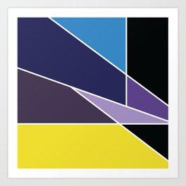 Purple Irregulars Art Print