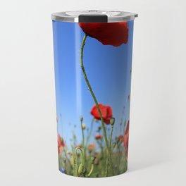 poppy flower no15 Travel Mug