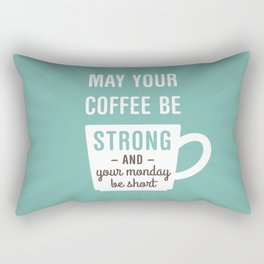 Coffee Strong Monday Short Rectangular Pillow