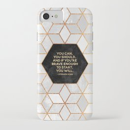 If you're brave enough / Design Milk Collab. iPhone Case