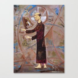 Francis of Assisi Francisco Juan Manuel Rocha Kinkin Canvas Print