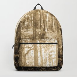 Vintage Sepia Fairy Forest Backpack