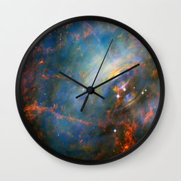 Beating Heart of the Crab Nebula Wall Clock