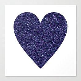Sparkling Heart blue Canvas Print