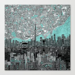 toronto city skyline Canvas Print