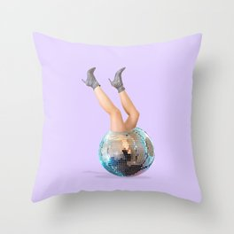Disco Legs Throw Pillow