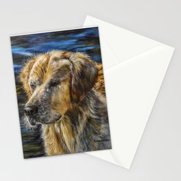 One Wet Golden Retriever by Teresa Thompson Stationery Cards