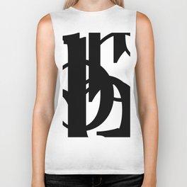 Hidden Letters. Baskerville B Biker Tank