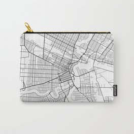 Winnipeg Map, Canada - Black and White Carry-All Pouch