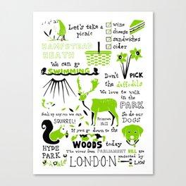 London Parks Canvas Print