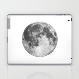 Full Moon phase print black-white monochrome new lunar eclipse poster home bedroom wall decor Laptop & iPad Skin