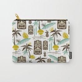 Island Tiki - White Carry-All Pouch