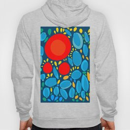 Blue Abstract Floral and decorative pattern Hoody