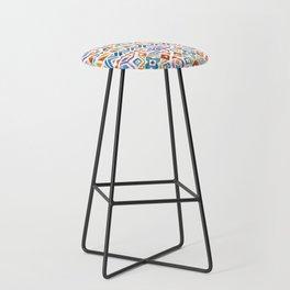 Geometric colorful Watercolor Pattern Bar Stool