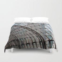 train station - glass - Berlin Duvet Cover