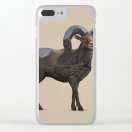 The Rocky Mountain Bighorn Sheep Clear iPhone Case