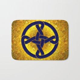 Celtic Knot Blue & Gold Bath Mat