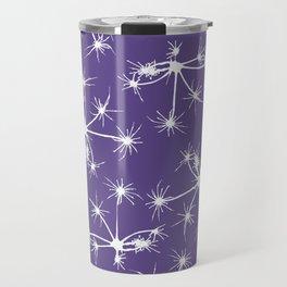 Floral Fireworks - Ultra Violet Botanical Pattern Travel Mug
