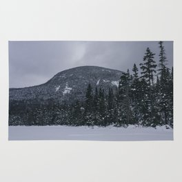 Winter at Lonesome Lake in the White Mountains Rug