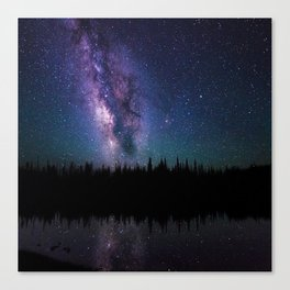 Space Forrest  Canvas Print