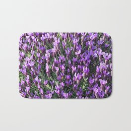 SPANISH LAVENDER AND ONE BEE Bath Mat