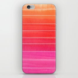 Watercolor Sunset Stripe  iPhone Skin
