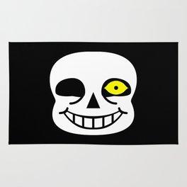Sans Skull Bad Time Rug