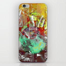 technical mosaic world iPhone Skin