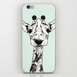 Giraffe Tattooed iPhone Skin