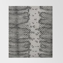 Snake Skin in Grey and Black Throw Blanket