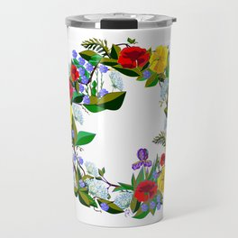 A Wreath of Wildflowers from the South Travel Mug