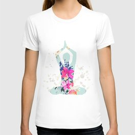 Yoga pilates watercolor print | Watercolor flowers T-shirt