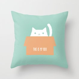 This is My Box Throw Pillow