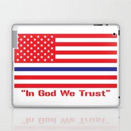 IN GOD WE TRUST Laptop & iPad Skin